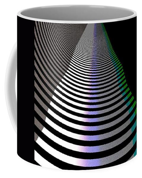 Art Digital Art Coffee Mug featuring the digital art B-wmazezoom3 by Alex Porter