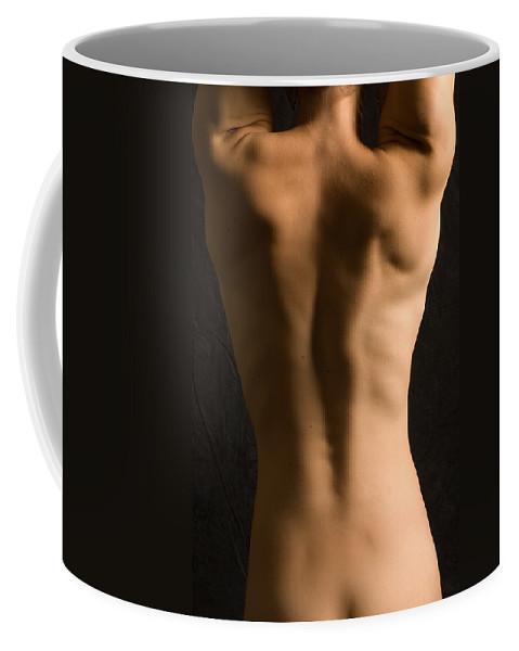 Nude Coffee Mug featuring the photograph Bare Back Torso by David Thompson