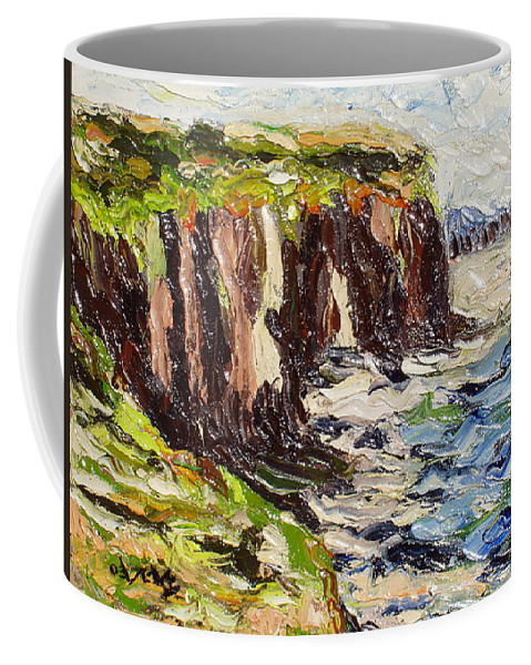 Abstract Paintings Coffee Mug featuring the painting Cliff by Seon-Jeong Kim