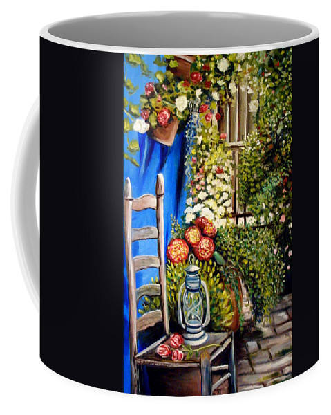 Floral Coffee Mug featuring the painting Colbolt by Elizabeth Robinette Tyndall