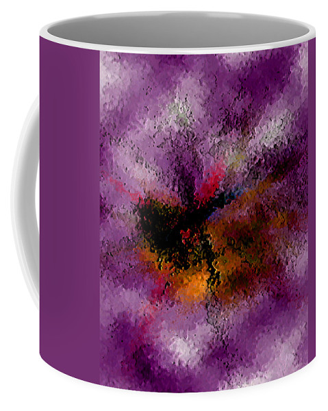 Abstract Coffee Mug featuring the digital art Damaged But Not Broken by Ruth Palmer