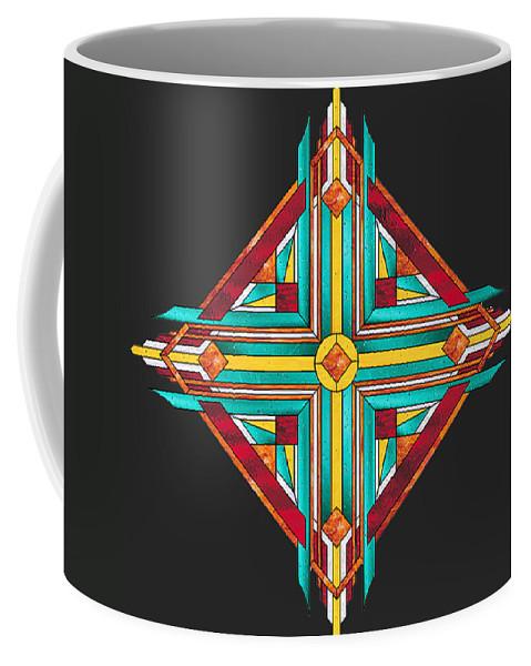 Zia Coffee Mug featuring the digital art Doodle 7200 Explored by Don Quackenbush