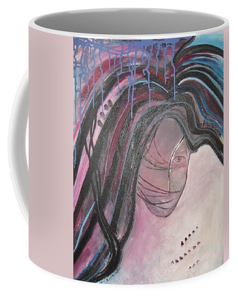 Abstract Paintings Coffee Mug featuring the painting I by Seon-Jeong Kim