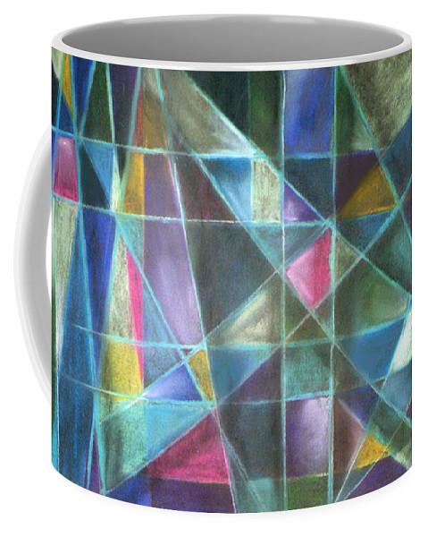 Caroline Peacock Coffee Mug featuring the pastel Light Patterns 2 by Caroline Peacock