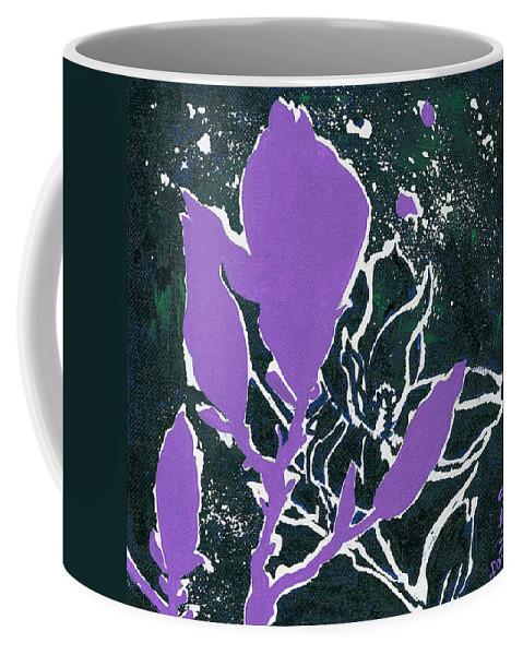 Flowers Coffee Mug featuring the painting Magnolias by Elisabeta Hermann