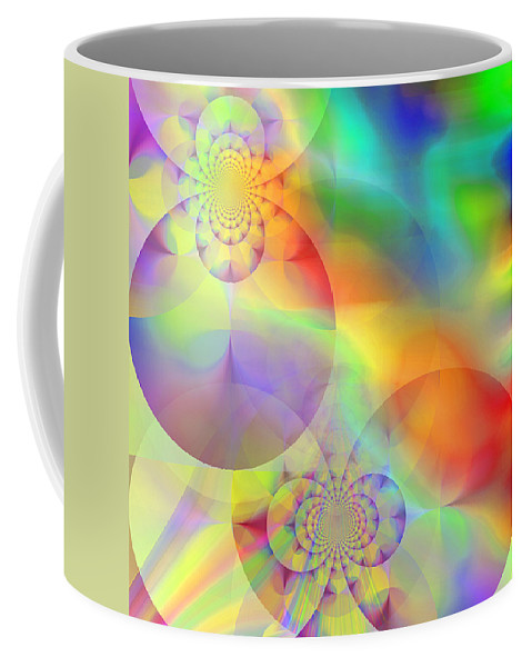 Abstract Coffee Mug featuring the digital art Mind Over Matter by Ruth Palmer