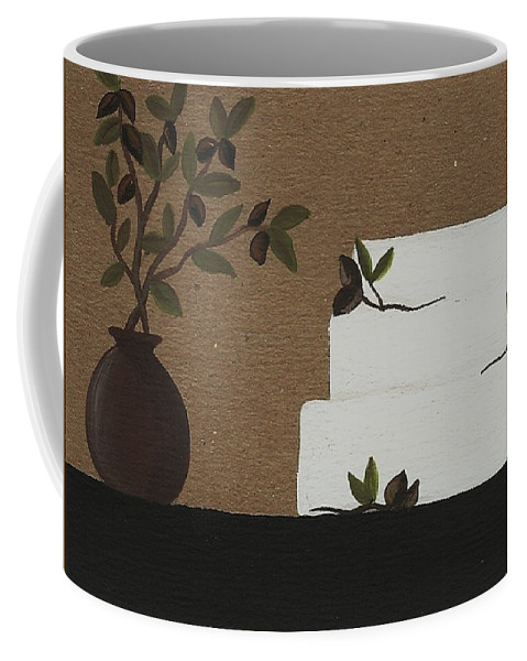Wedding Cake Coffee Mug featuring the painting Olive Branch Cake by Katie Slaby