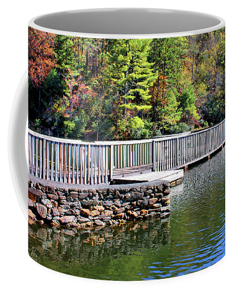 Pier Coffee Mug featuring the photograph Peaceful Pier by Kristin Elmquist