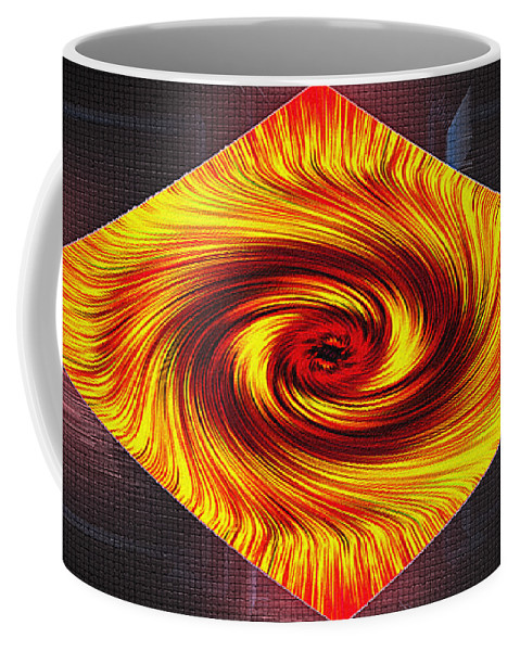 Abstract Coffee Mug featuring the digital art Rhomboid Storm by Don Quackenbush