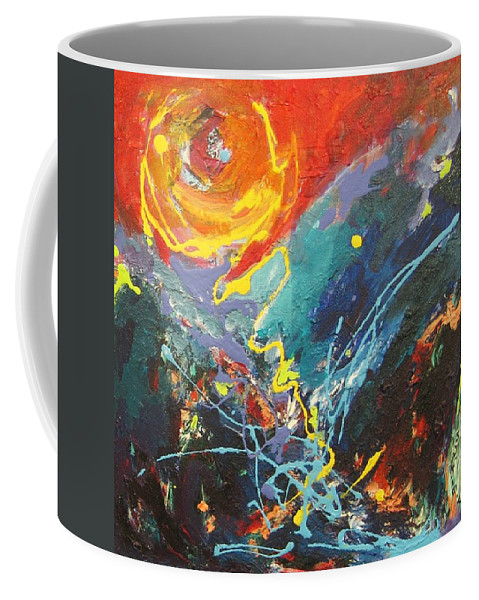Abstract Paintings Coffee Mug featuring the painting The Narrows by Seon-Jeong Kim