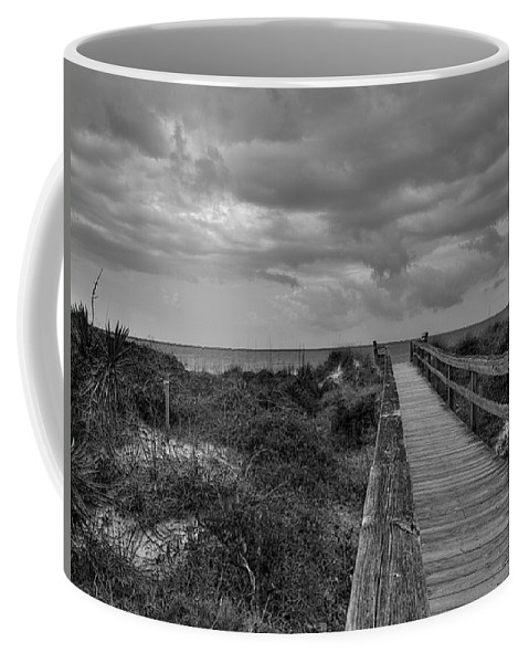 Beach Walk Coffee Mug featuring the photograph Walk To The Beach Alantic Beaches Nc by Tommy Anderson