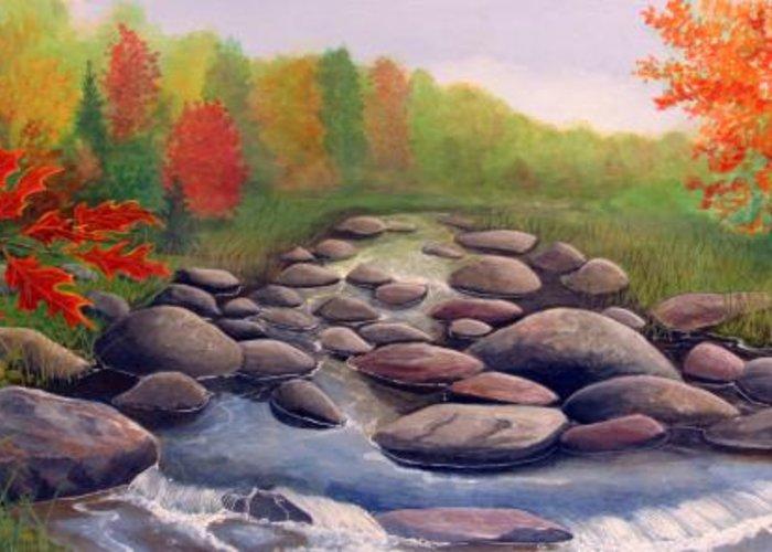 Rick Huotari Greeting Card featuring the painting Cherokee Park by Rick Huotari