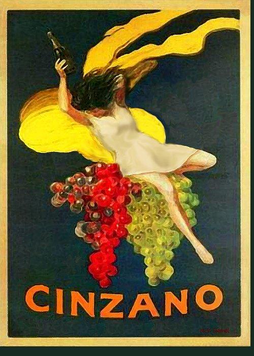 Cinzano Greeting Card featuring the photograph Cinzano Girl by Nick Diemel
