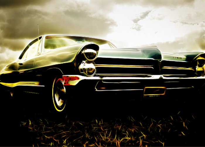 Pontiac Greeting Card featuring the photograph 1965 Pontiac Bonneville by Phil 'motography' Clark