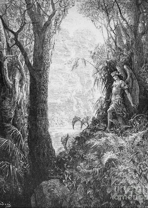 Book Greeting Card featuring the photograph Milton: Paradise Lost by Granger