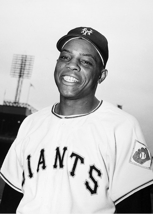 1951 Greeting Card featuring the photograph Willie Mays (1931- ) by Granger