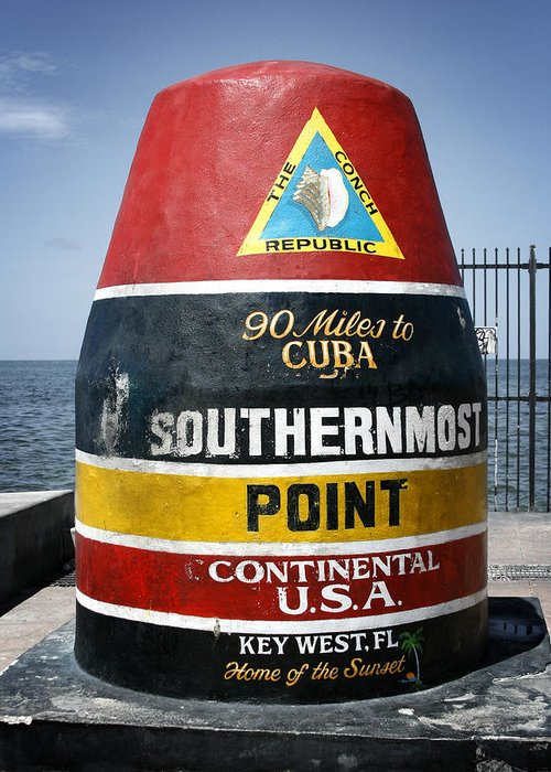 Key West Greeting Card featuring the photograph 90 Miles by Shane Rees