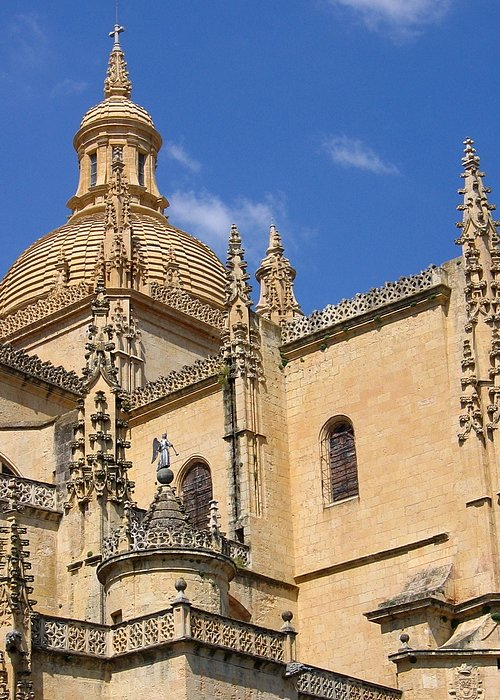Spain Greeting Card featuring the photograph Catedral De Segovia by Lindsey Orlando