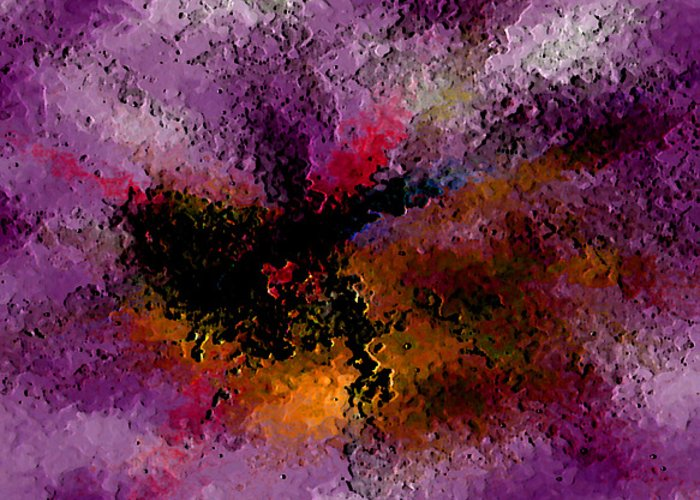 Abstract Greeting Card featuring the digital art Damaged But Not Broken by Ruth Palmer