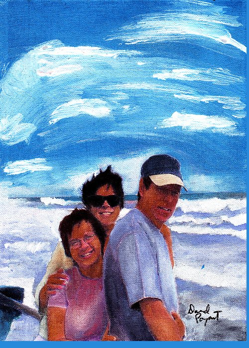 Friends Greeting Card featuring the painting Friendship by David Poyant