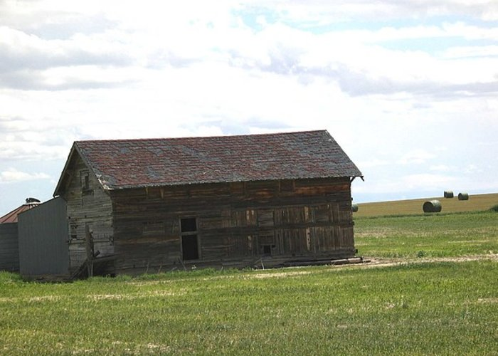 Landscape Greeting Card featuring the photograph Grassland Farm by Margaret Fortunato