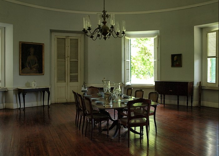 dinning Room Greathouse Greeting Card featuring the photograph Greathouse Dinning by Dennis Stein