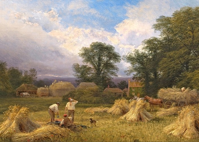 Harvest Time Greeting Card featuring the painting Harvest Time by GV Cole