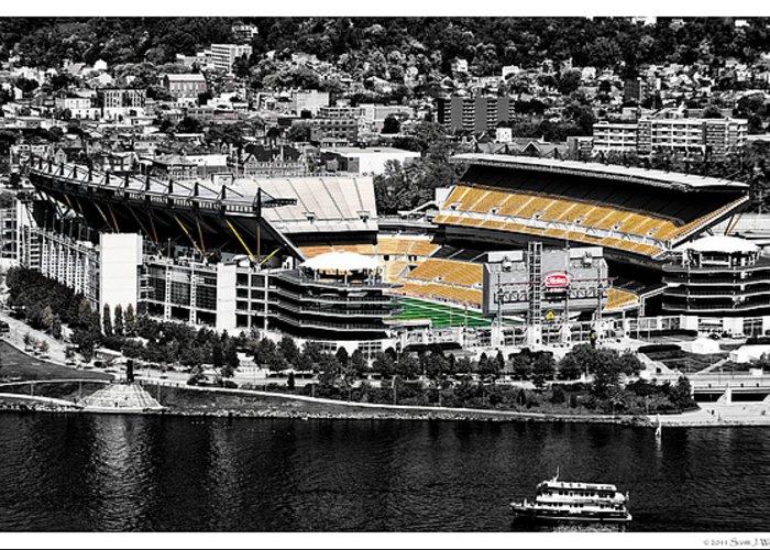 Stadium Greeting Card featuring the photograph Heinz Field by Scott Wyatt