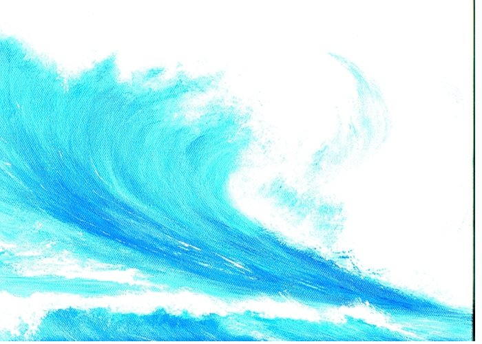 Surf Greeting Card featuring the painting In My Dreams by Laura Johnson