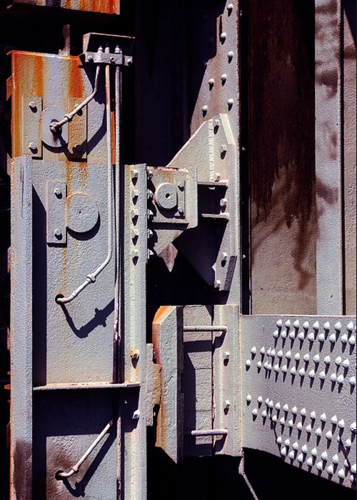 Abstract Greeting Card featuring the photograph Industrial Background by Carlos Caetano