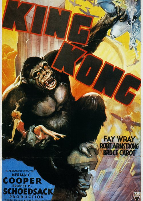 1933 Greeting Card featuring the photograph King Kong Poster, 1933 by Granger