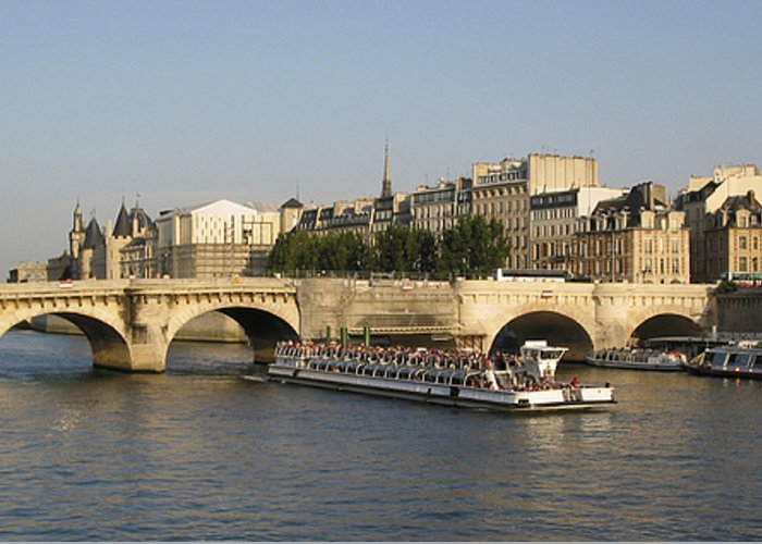 And Greeting Card featuring the photograph Le Pont Neuf. Paris. by Bernard Jaubert