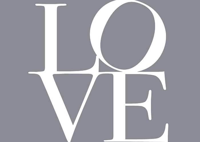 Love Greeting Card featuring the digital art Love In Grey by Michael Tompsett