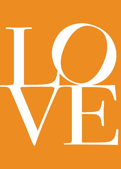 Love Greeting Card featuring the digital art Love In Orange by Michael Tompsett