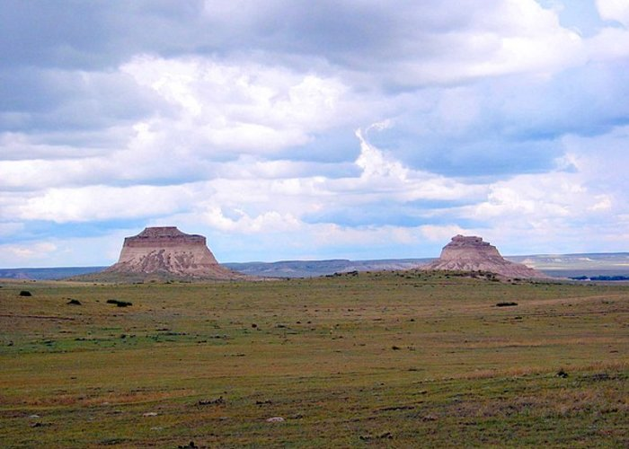 Big Sky Greeting Card featuring the photograph Pawnee Butte Colorado by Margaret Fortunato
