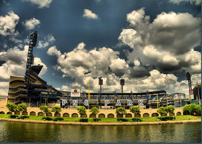 Baseball Greeting Card featuring the photograph Pnc Park by Arthur Herold Jr