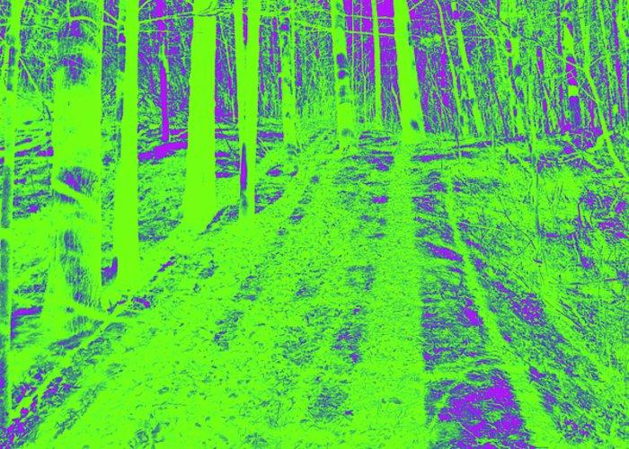 Landscape Greeting Card featuring the digital art Polar Day by John Bichler