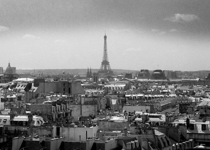 Eiffel Greeting Card featuring the photograph Roof Of Paris. France by Bernard Jaubert
