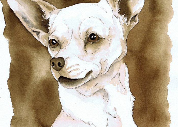 Dog Art Of Chihuahua Greeting Cards