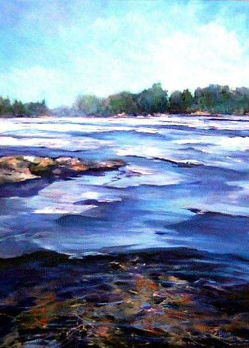 Greeting Card featuring the painting Spring Thaw by Cathy Boyd