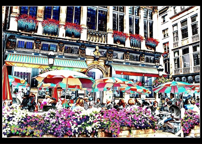 Brussels Greeting Card featuring the photograph Sunny Day On The Grand Place by Carol Groenen