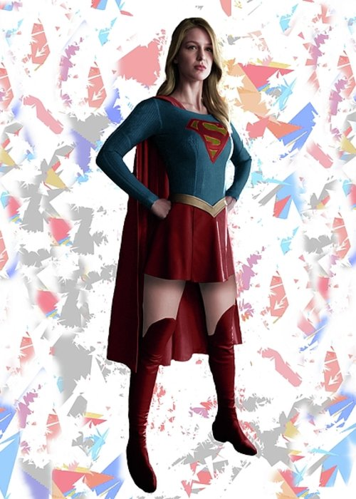 Supergirl Mixed Media Greeting Cards