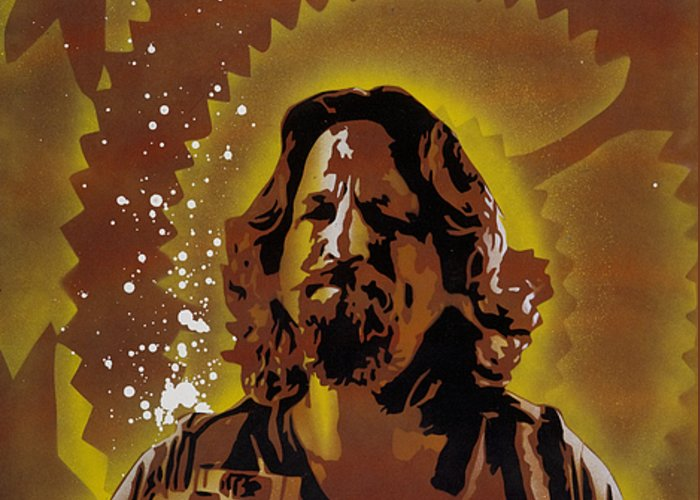 Pop Greeting Card featuring the painting The Dude by Tai Taeoalii