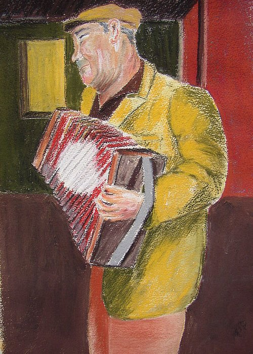 Figure Greeting Card featuring the painting The Entertainer by Joe Lanni