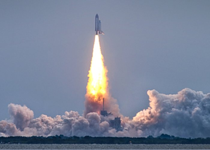 Sts-135 Greeting Card featuring the photograph The Final Voyage by Ryan Heffron