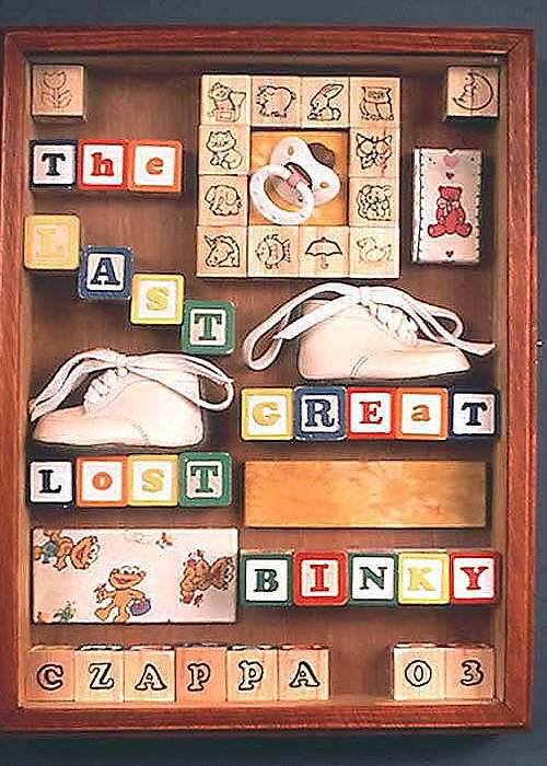 Czappa Greeting Card featuring the mixed media The Last Great Lost Binky by Bill Czappa
