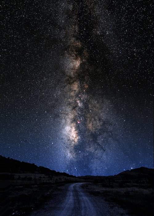 Astronomy Greeting Card featuring the photograph The Milky Road by Larry Landolfi