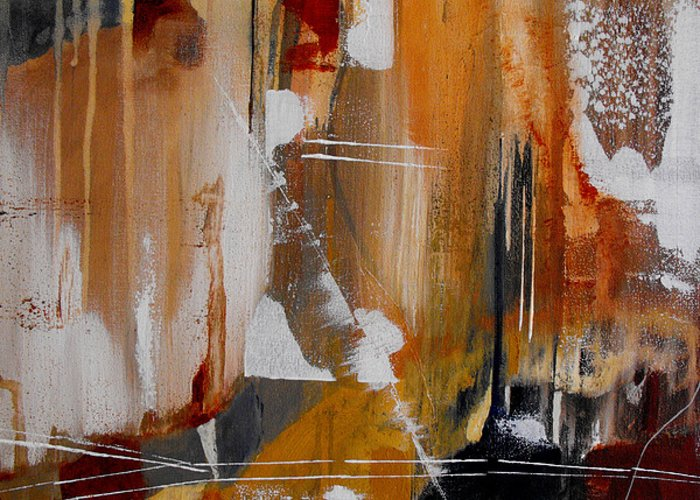 Abstract Greeting Card featuring the painting Turbulent Times II by Ruth Palmer