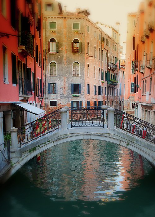 Arch Bridge Greeting Card featuring the photograph Venice Visions by Eggers Photography