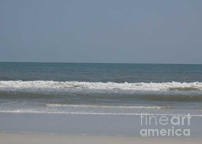 The Beach Near St. Augustine Greeting Card featuring the photograph Watching The Waves by Barb Montanye Meseroll